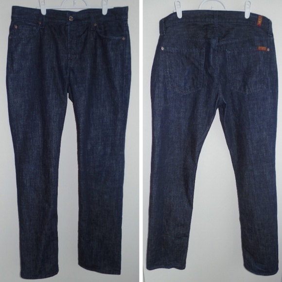 7 For All Mankind Other - 7 FOR ALL MANKIND Standard Very Dark Wash Jeans